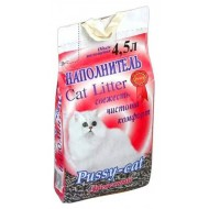 Наполнитель для кошачьего туалета PUSSY-CAT Древесный 4,5л