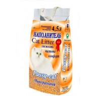 Наполнитель для кошачьего туалета PUSSY-CAT Минеральный 4,5л