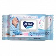 """Влажные салфетки """"Aura"""" для детей 120 шт."""