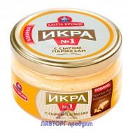 """Икра деликатесная """"Санта бремор"""" с сыром пармезан 180 гр."""