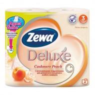 Туалетная бумага Zewa Deluxe Персик 4 шт
