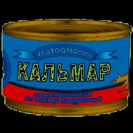"""Кальмар натуральный """"Ультрамарин"""" без кожи 240г"""