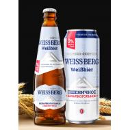 "Пиво ""Weiss-Berg"" б/а пшеничное 0,45л ж/б"