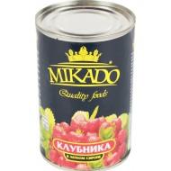 """Клубника """"Mikado"""" в сиропе 410гр"""