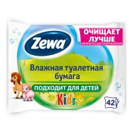 "Влажная туалетная бумага ""Zewa"" Kids  42шт"