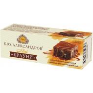 """Бисквит """"Б.Ю. Александров"""" Брауни шоколадный, с грецким орехом и карамелью 40 г"""