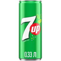 Газированный напиток 7UP Лимон и лайм 0.33л