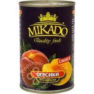"""Персики """"Mikado"""" половинки в сиропе 410гр"""