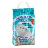 Наполнитель для кошачьего туалета PUSSY-CAT океанический 4,5л