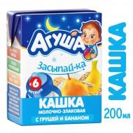 """Каша """"Агуша"""" Засыпай-ка молочно-злаковая с грушей и бананом с 6 месяцев бзмж 200мл"""
