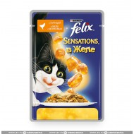 Корм Felix Sensations для кошек Курица и морковь 85гр