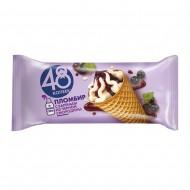 """Мороженое """"48 копеек"""" Пломбир в вафельном рожке с Вареньем из смородины 106 г"""