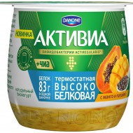 Биойогурт Активиа Манго-папайя-семена чиа 2,7% 170 г бзмж