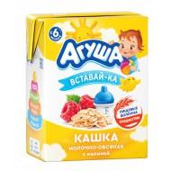 """Каша """"Агуша"""" Вставай-ка молочная Овсянка-малина 200мл"""