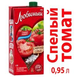 Сок Любимый томатный 1л
