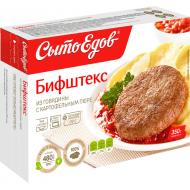 Бифштекс Сытоедов из говядины с картофельным пюре 350гр