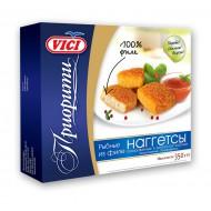 Рыбные наггетсы Vici Приорити из филе панированные в золотистой корочке замороженные