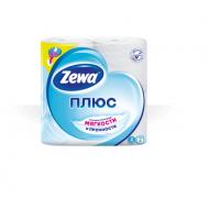Туалетная бумага Zewa Плюс белая 4 шт