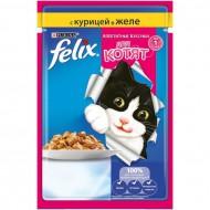 Корм Felix Аппетитные кусочки для котят с курицей в желе 85гр