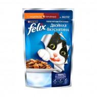 Корм Felix для кошек Аппетитные кусочки Двойная вкуснятина индейка и печень 85гр