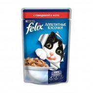 Корм Felix для кошек с говядиной 85гр