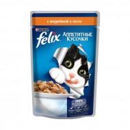 Корм Felix для кошек с индейкой 85гр