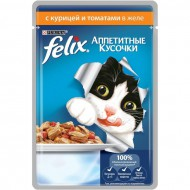 Корм Felix для кошек с курицей и томатами 85гр