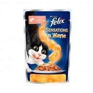 Корм Felix для кошек в желе с лососем и треской 85гр