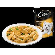 Корм для собак Cesar из курицы с зелеными овощами