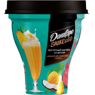 Коктейль йогуртный Даниссимо Shake&Go ананасово-кокосовый сорбет 5,2% 260 г