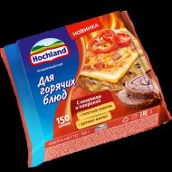 Плавленый сыр Hochland для горячих блюд с окороком и паприкой 45% 8 ломтиков 150 г