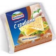 Плавленый сыр Hochland с грибами 45% 8 ломтиков 150 г бзмж