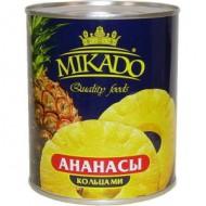 """Ананасы """"Mikado"""" кольцами в сиропе 565гр"""