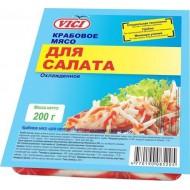 """Крабовое мясо """"Vici"""" для салата охлажденное 200 г"""