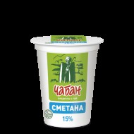 """Сметана """"Чабан"""" 15% 400 гр."""