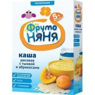 """Каша """"ФрутоНяня"""" молочная рисовая с тыквой и абрикосами"""