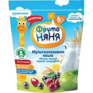 """Каша """"ФрутоНяня"""" мультизлаковая с яблоком вишней и черной смородиной молочная"""